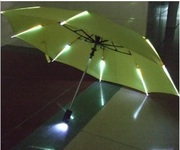 Светящийся зонт с подсветкой ребер,  зонт гаджет,  оригинальный зонт
